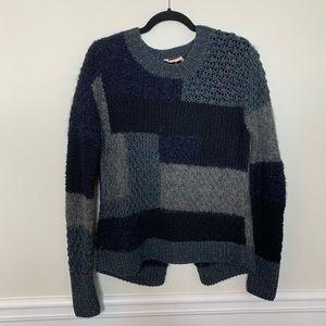 Rebecca Taylor patchwork cashmere blend sweater